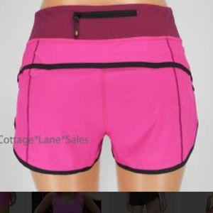 Lululemon pink athletic shorts